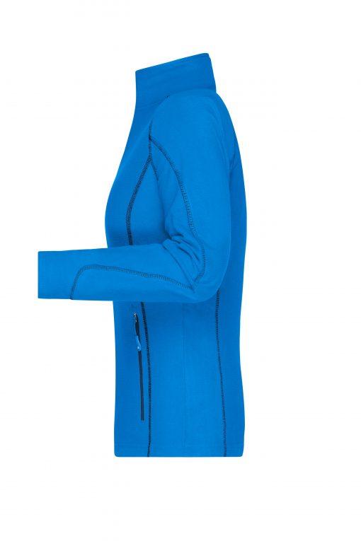 Дамско поларено яке - цвят Синьо-Зелен/Тъмносин