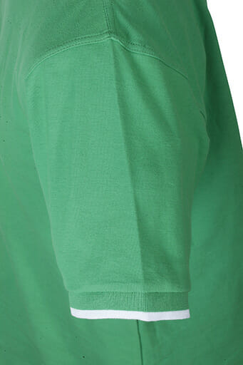 Мъжка тениска с яка - цвят Бял/Морско Син