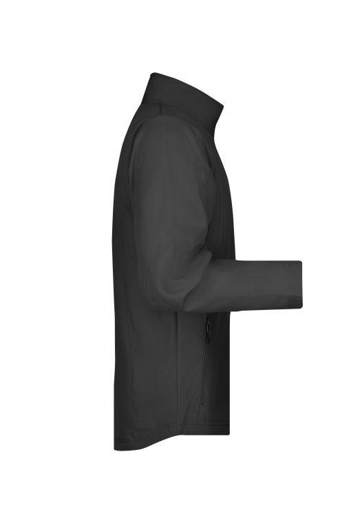 Мъжко софтшел яке без качулка - цвят Черен
