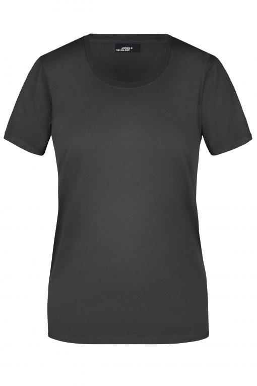 Памучна дамска тениска - цвят Черен