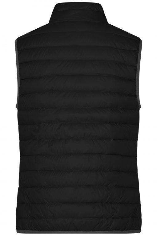 Дамски пухен елек - цвят Черно/Сребро