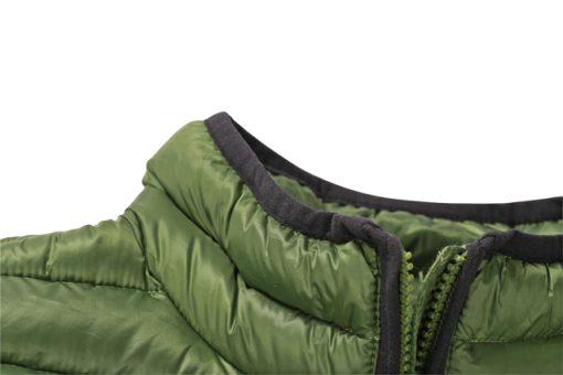 Мъжко зимно шушляково яке - цвят Червено/Черно