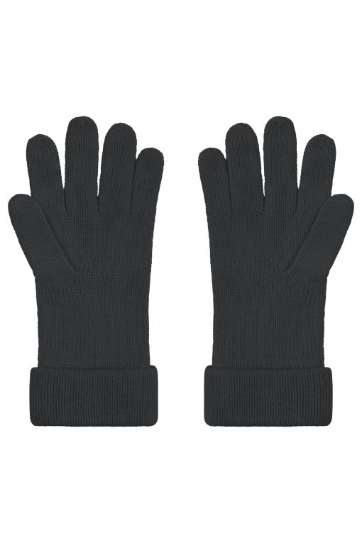 Зимни плетени ръкавици - цвят Черен
