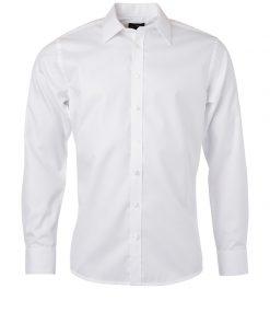Мъжка риза с дълъг ръкав - цвят Бяло