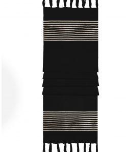 Плетен шал - цвят Черен / Пясък