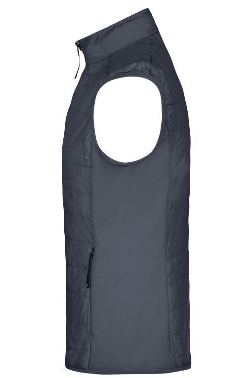 Мъжки хибриден елек - цвят Черно/Сребро