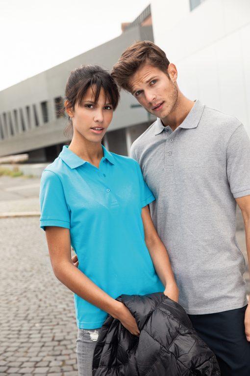 Мъжка тениска Basic Polo - цвят Черен