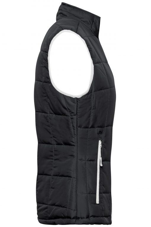 Дамски шушляков елек Thinsulate - цвят Черно/Сребро