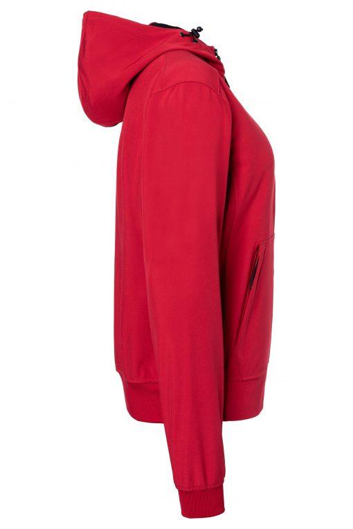 Дамско софтшел яке - цвят Червено/Черно