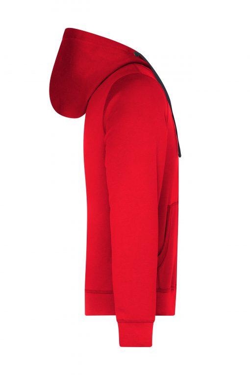 Мъжки суичър - цвят Червен/Индиго