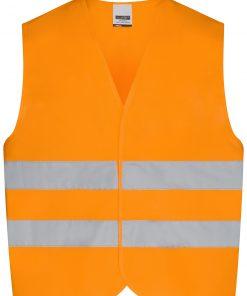 Светлоотразителна жилетка за деца - цвят Флуоресцентно-Оранжев