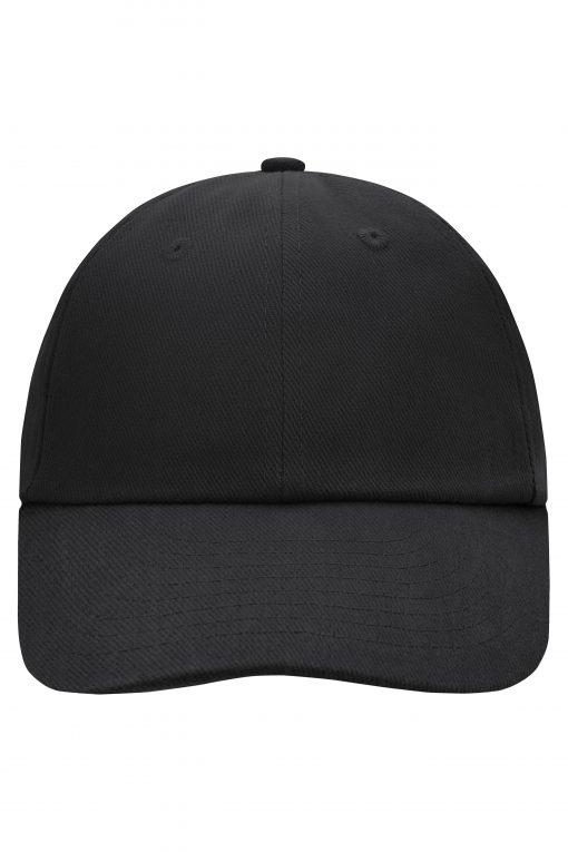 Памучна шапка с козирка - цвят Черен