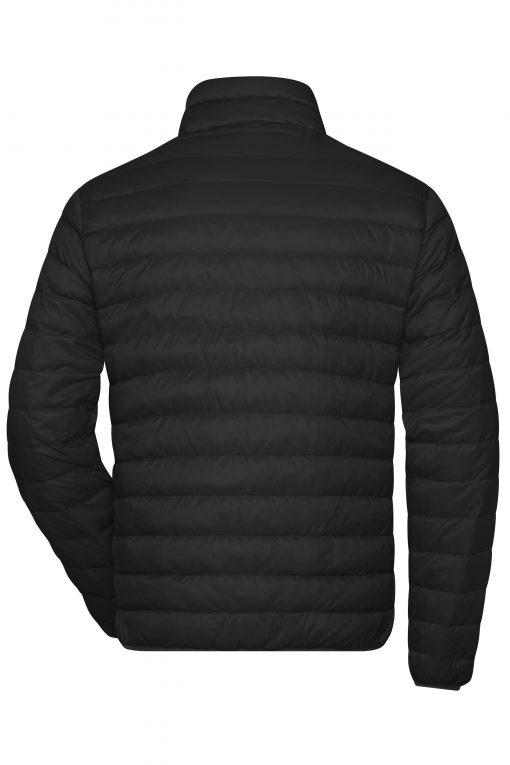 Мъжко пухено яке - цвят Черно/Сребро