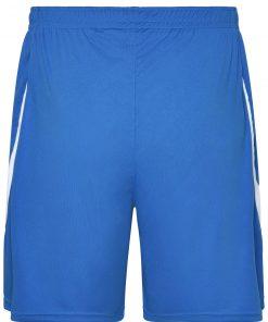 Мъжки спортни шорти - цвят Кралско/Бяло