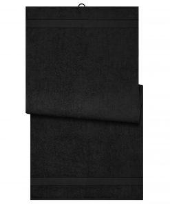 Био кърпа за баня 100 x 150 cm - цвят Черен