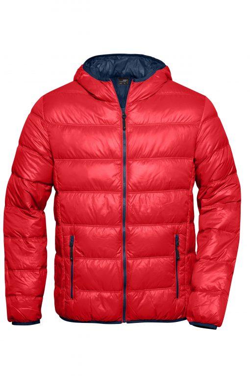 Мъжко шушляково яке - цвят Червено/Флота