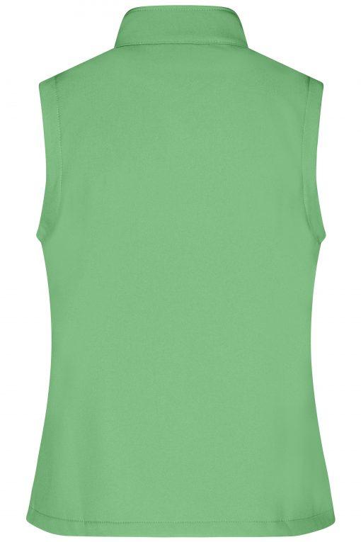 Дамски софтшел елек - цвят Зелен/Морско Синьо