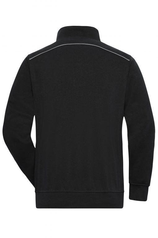 Мъжки суичър с полуцип - цвят Черен