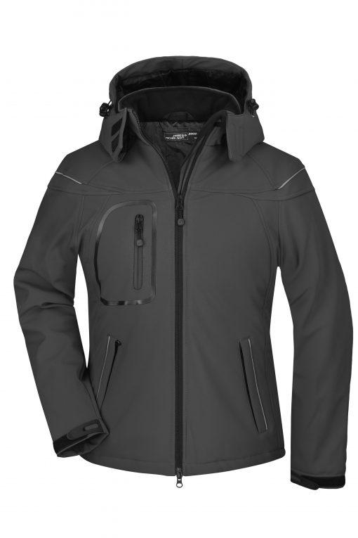 Женско софтшел яке - цвят Черен