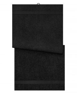 Био кърпа за баня 70 x 140 cm - цвят Черен
