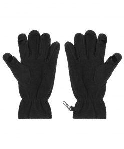 Поларени TouchScreen ръкавици - цвят Черен