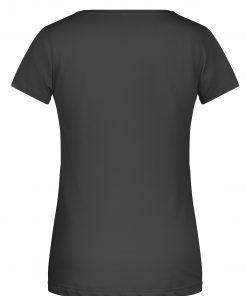 Дамска спортна тениска с джоб - цвят Черен