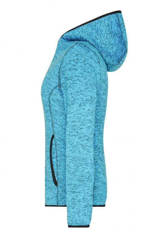 Дамски суичър - цвят Синьо-Меланж/Черен