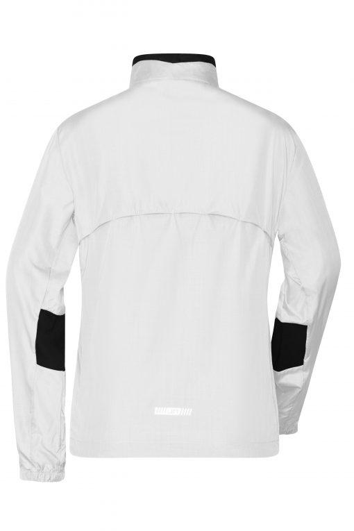 Дамско яке за бягане - цвят Бял/Черен