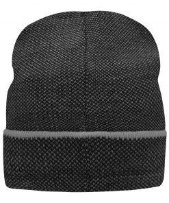 Елегантна шапка тип Beanie - цвят Черно/Сребро